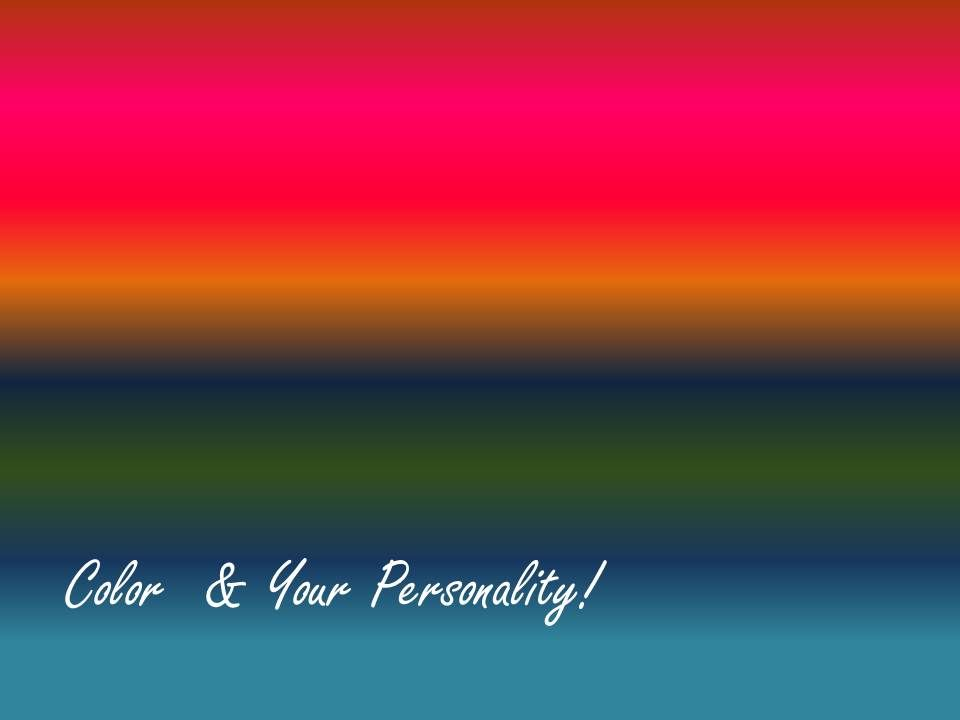The Lusher color-based personality test :)