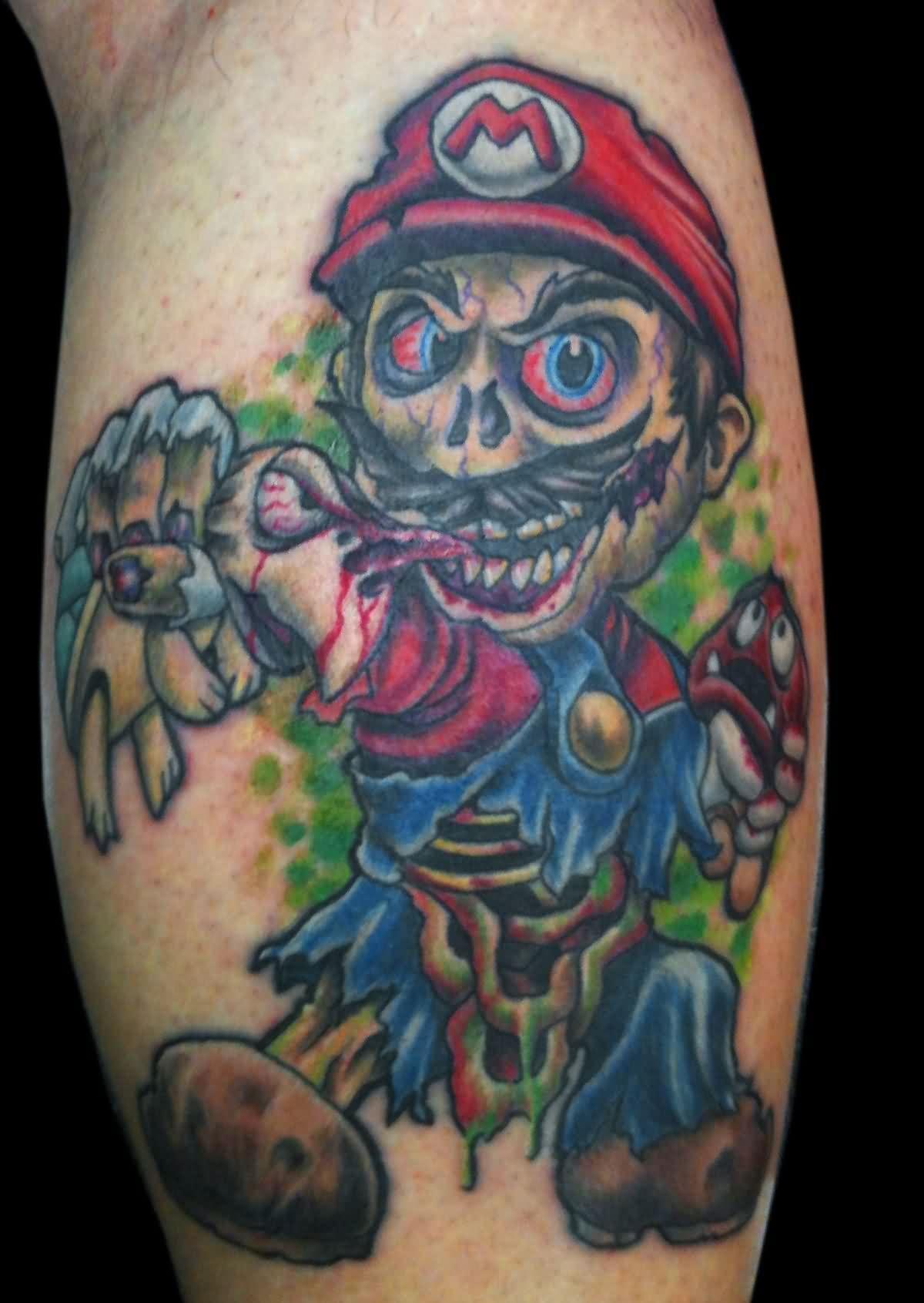 Wicked tattoos best 3d tattoo ideas mario tattoo - Wicked 3d tattoos ...