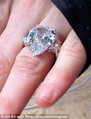 Generous Husband The 29 Year Old Pop Punk Diva S Latest Bauble Is Even Larger Than 14 Carat Pear Shaped Bling Her 39 Beau Proposed With In