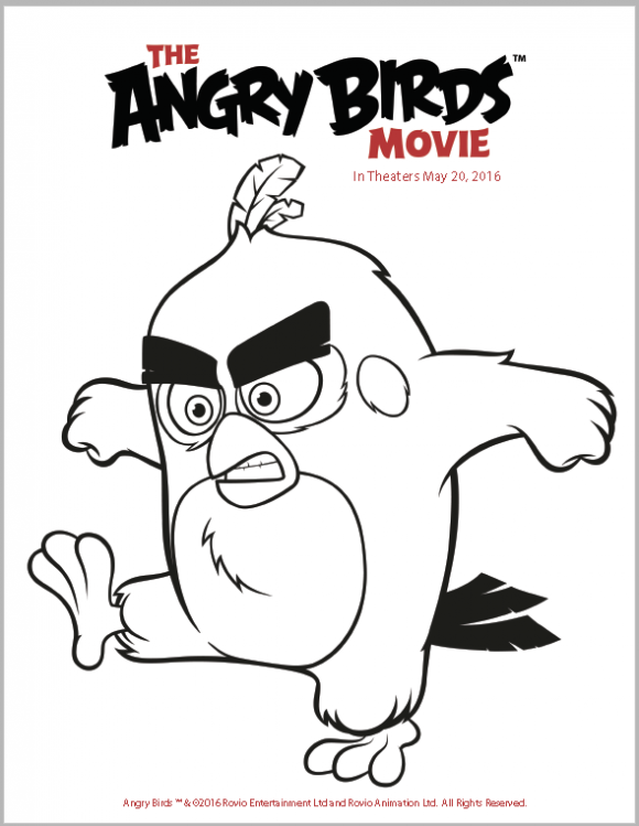 Kleurplaten Van Angry Birds.The Angry Birds Movie Trailer Coloring Pages And Activity Sheets
