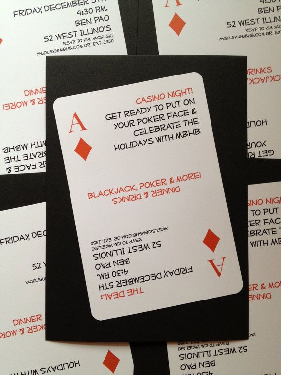 poker night or get lucky theme party invitations party time