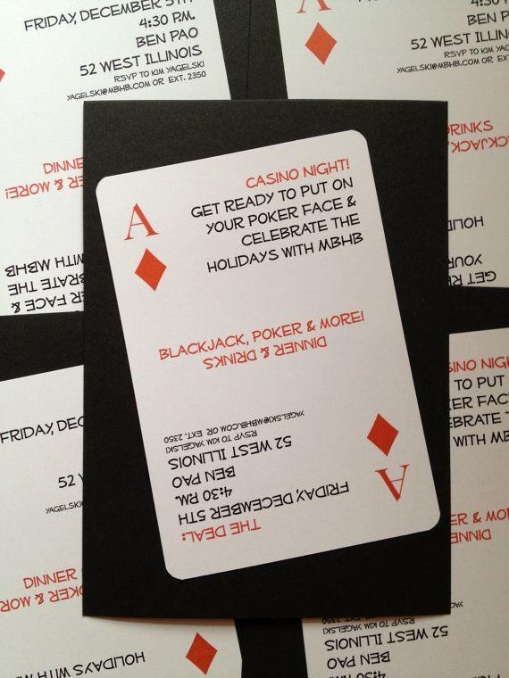 Casino Night Custom Birthday Invitation – Casino Royale Party Invitations