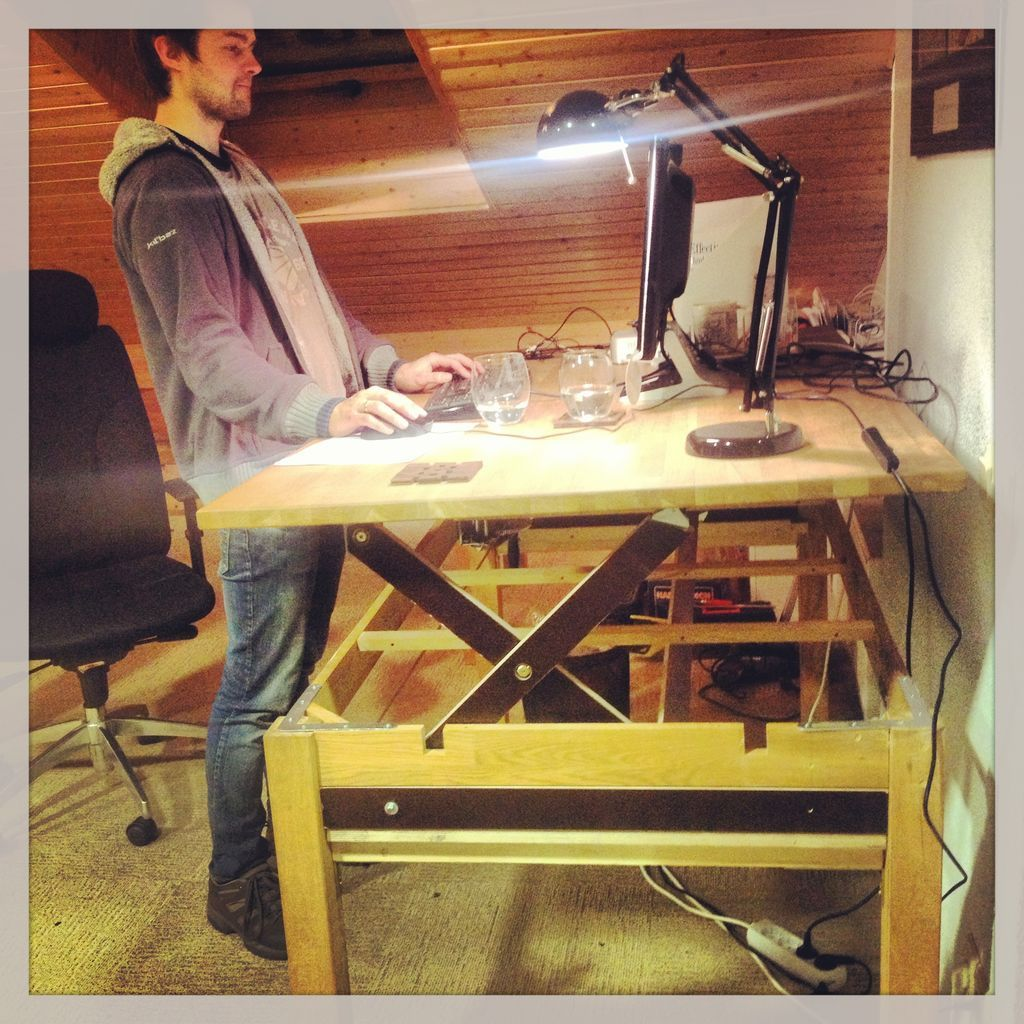 Liftable Stand Up Rising Desk Table Desks