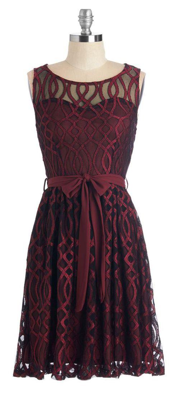 Merlot sheer sweetheart dress