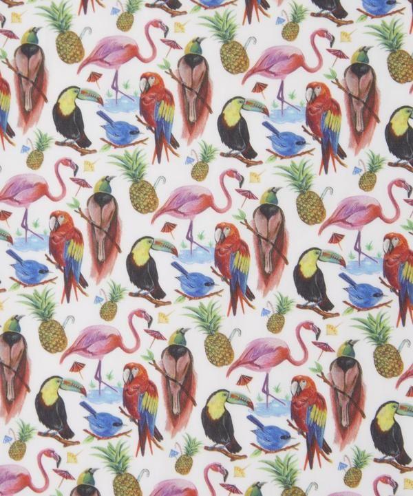 Botanical Cockatoo Design Parrot Paradise Fabric 100/% Cotton Tropical