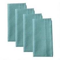 Solid Color Cotton Hemstitch Napkins, Set of 4
