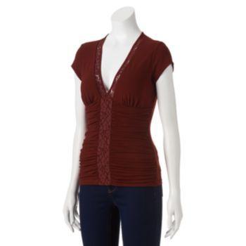 HeartSoul Molded Knit Top - Juniors