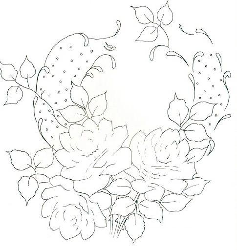 Pintura em Tecido Passo a Passo: Pintura em tecido de corações com flores