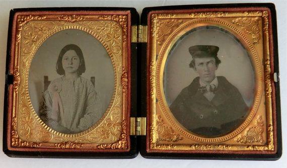ANTIQUE AMBROTYPE PHOTOGRAPH full case