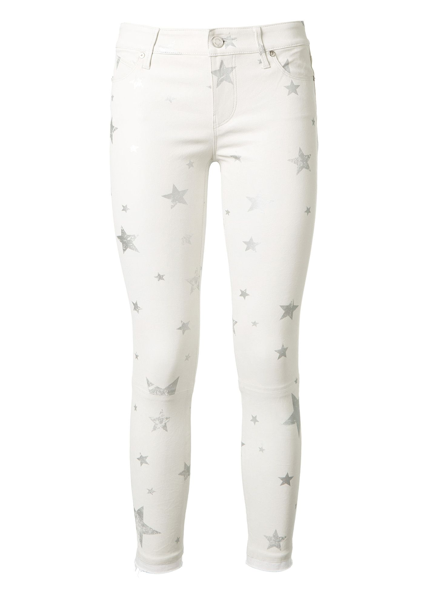 9e1247d98c RTA Rta White Leather Pants With Used Silver Stars Print.  rta  cloth