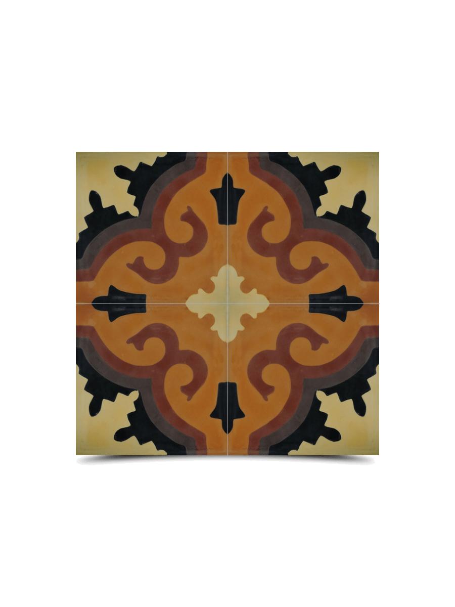 Moroccan Cement Pattern Dark Brown Colors 248 Glampor