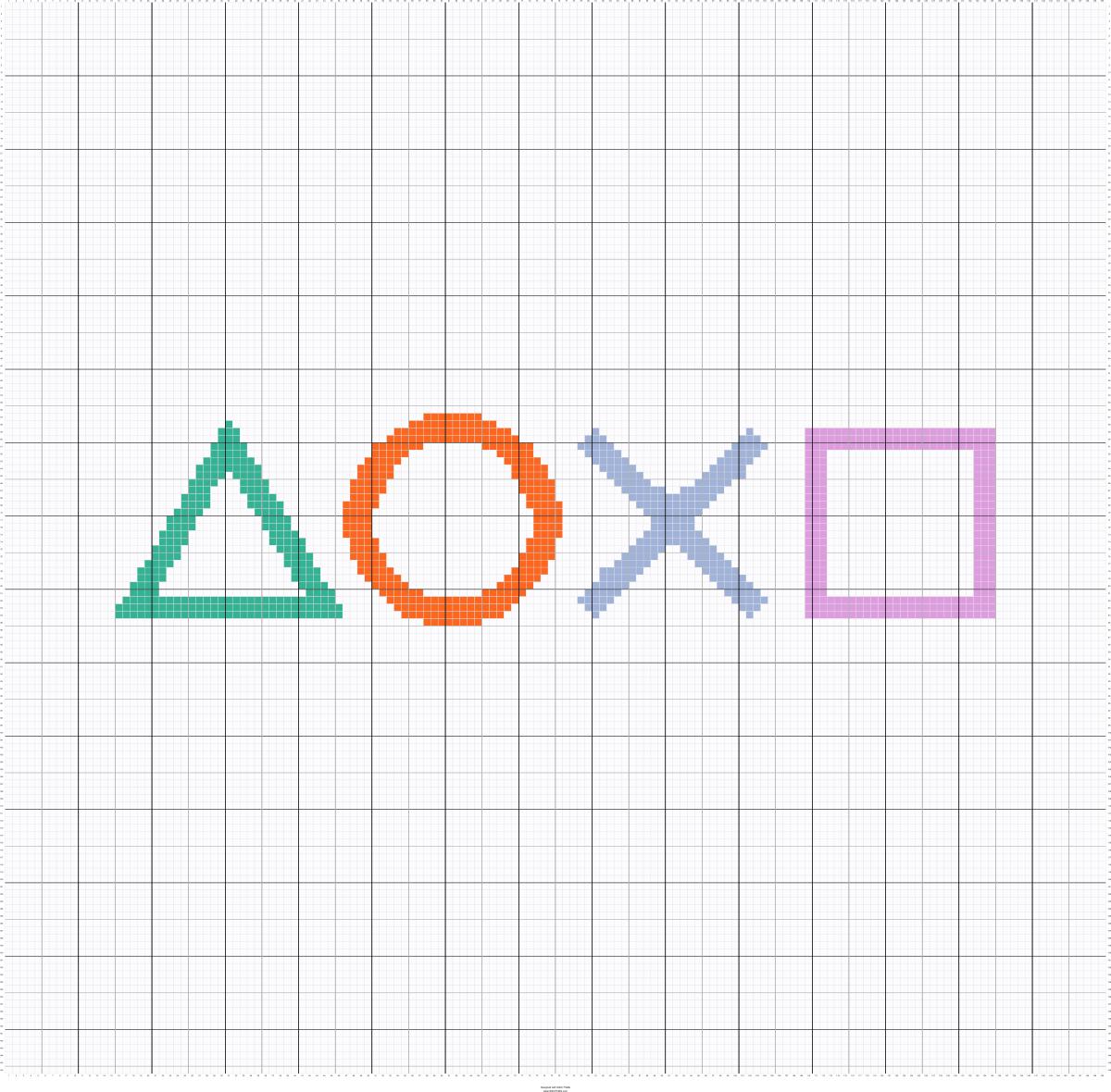 Playstation Buttons Cross Stitch Patterns Stitch Patterns