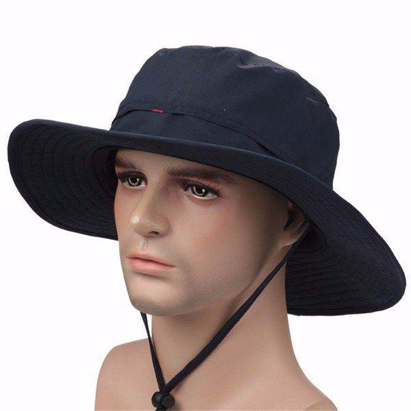 f8dc8a83 Men Women Wide Brim Outdoor Fishing Hiking Hunting Bucket Cap UV Protection  Sun Hat