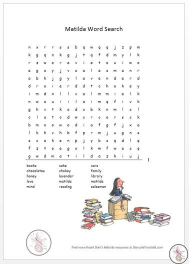 Free Printable Resources For Roald Dahl's Matilda | Mom Life ...