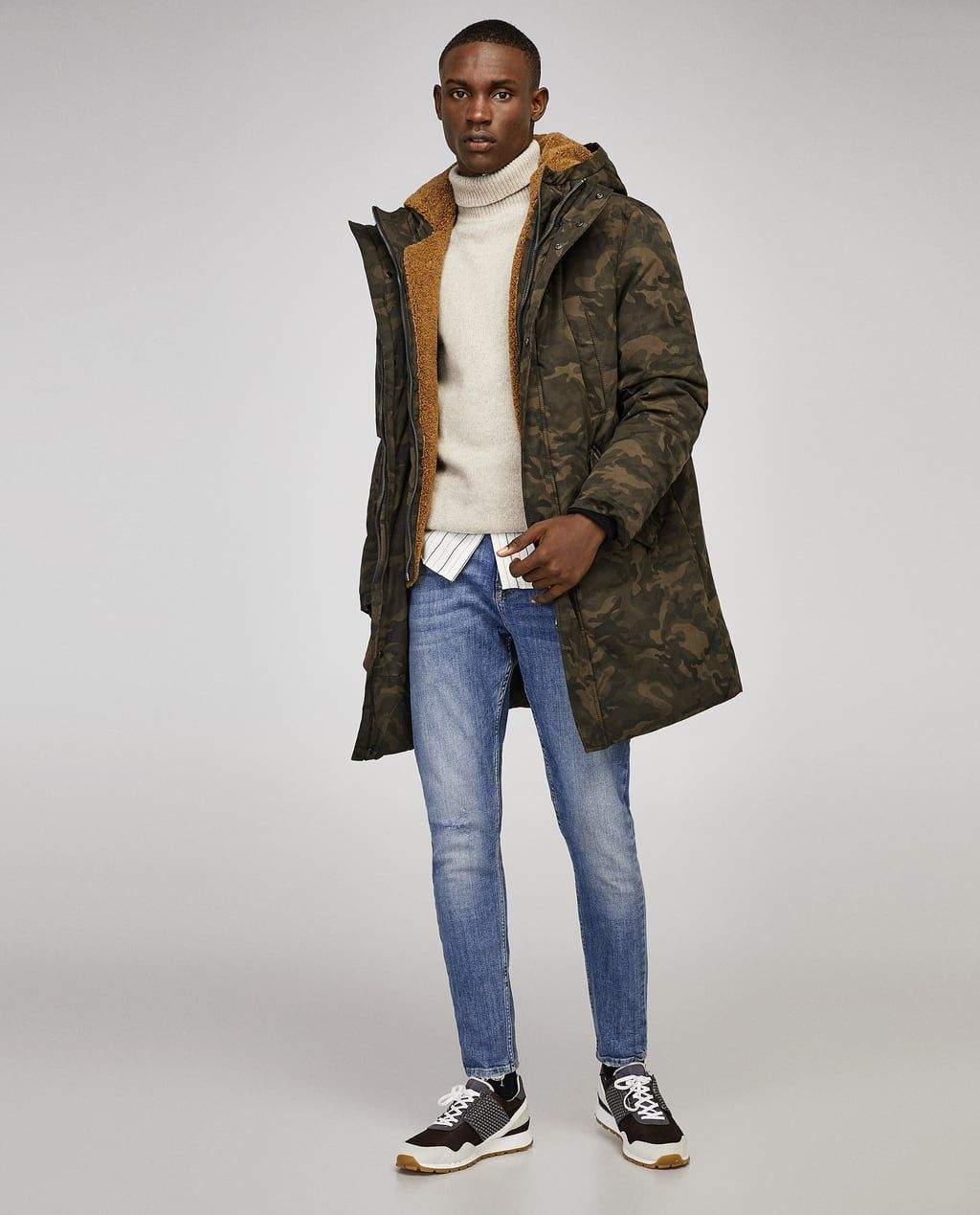 45f2cbae9effd Image 1 of CAMOUFLAGE PARKA from Zara Man Fashion, Parka, Presentation,  Hipster,