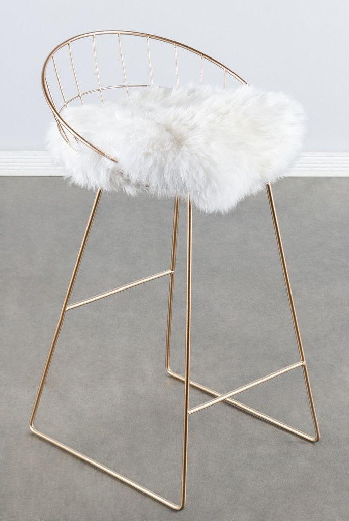 Metal Stools Ikea T414fur-kylie Sheepksin Bar/counter Chair | The Corner