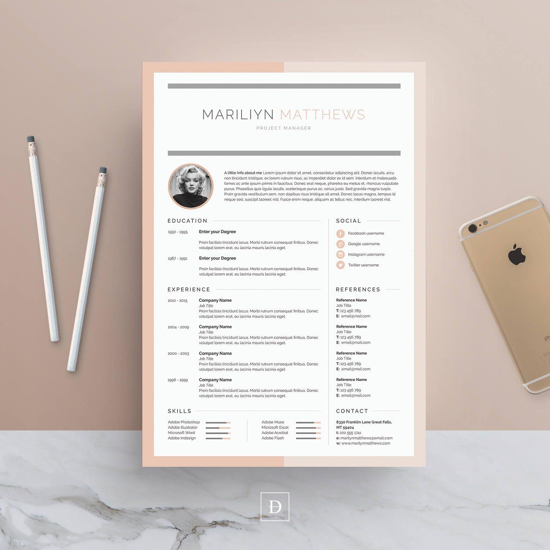 Página 3 de la plantilla de currículum | Plantilla de CV + carta + ...