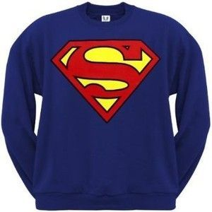 Superman Classic Logo Royal Blue Crewneck Sweatshirt