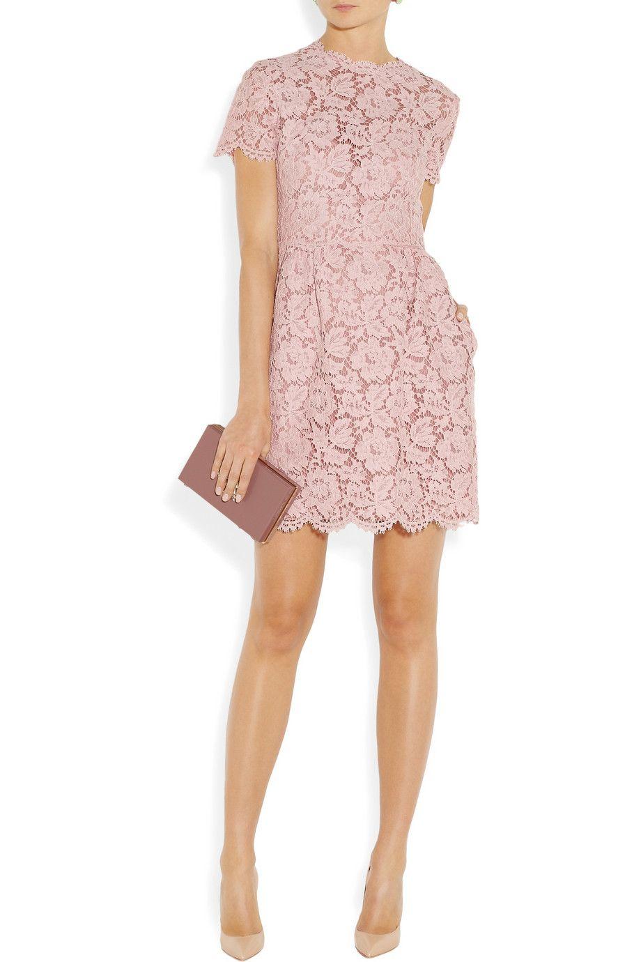 Valentino Spitzen Minikleid Aus Einer Baumwollmischung Net A Porter Com Kleider Minikleid Valentino