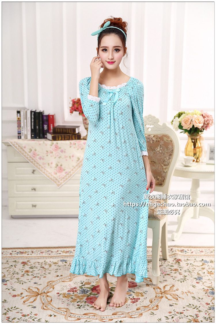 Lange baumwolle frauen nachtwäsche Mädchen Nachthemd Schlaf Kleid ...