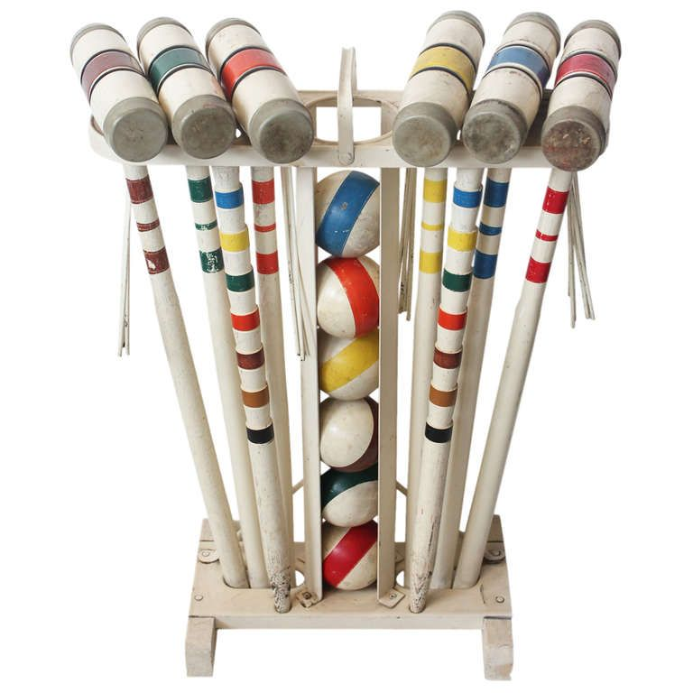 Vintage Croquet Set Everybody in our neighborhood had one of these and we all played!