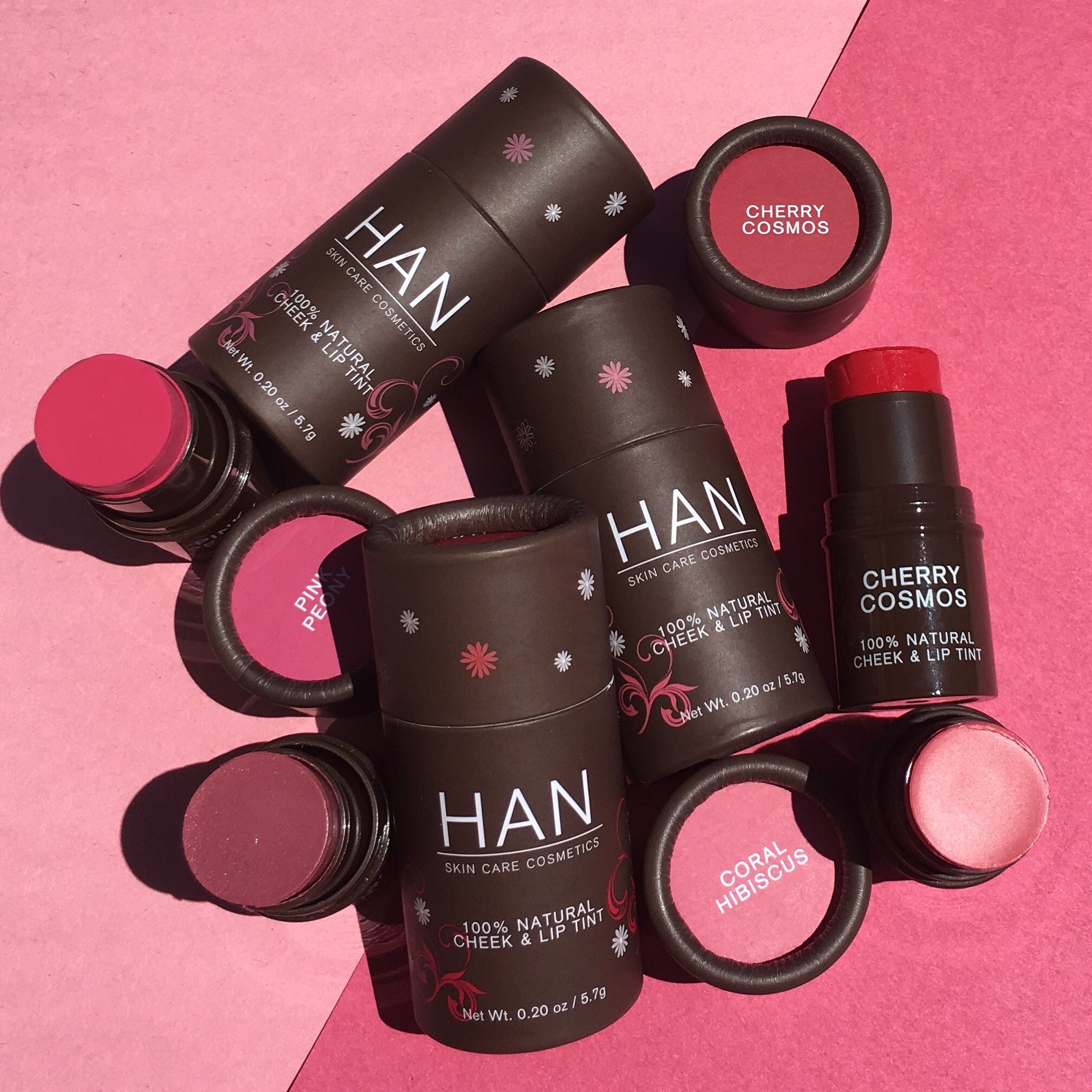 Add A Pop Of Pink To Your Day With Han Skin Care Cosmetics Cheek And Lip Tints Cruelty Free Cosmetics Cruelty Free Makeup Natural Lip Tints