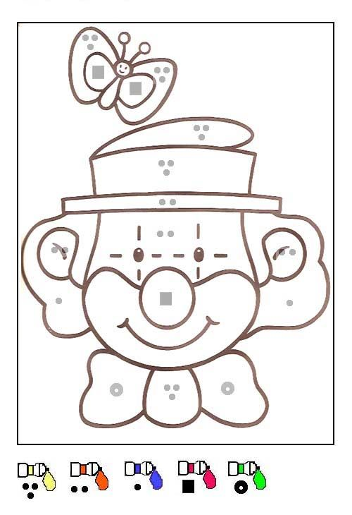 Coloriage Clown Cp.Coloriage Coloriages Magiques Color By Number For Adults And
