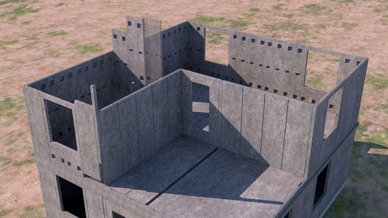 Fully Precast Concrete Villas Technologu And Factory Production Line Precast Concrete Precast Concrete Panels Concrete Houses