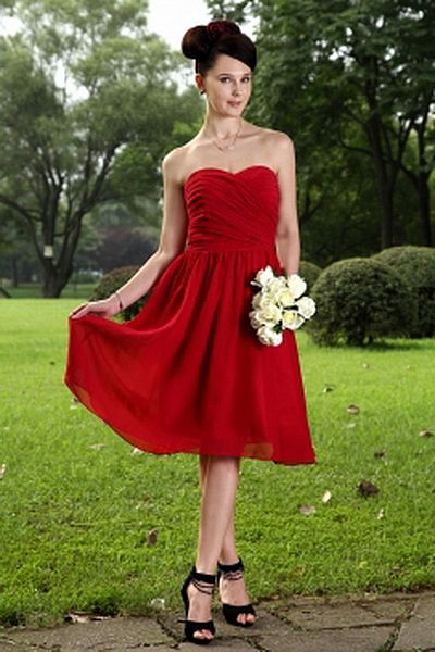 Chiffon Liebsten Rote Berühmtheit Kleid kv0826 - Silhouette: A-Line ...