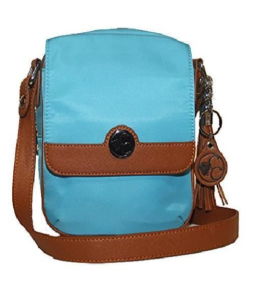 Concealed Carrie Concealed Carry Turquoise Crossbody Handbag  #ConcealedCarrie #MessengerCrossBody