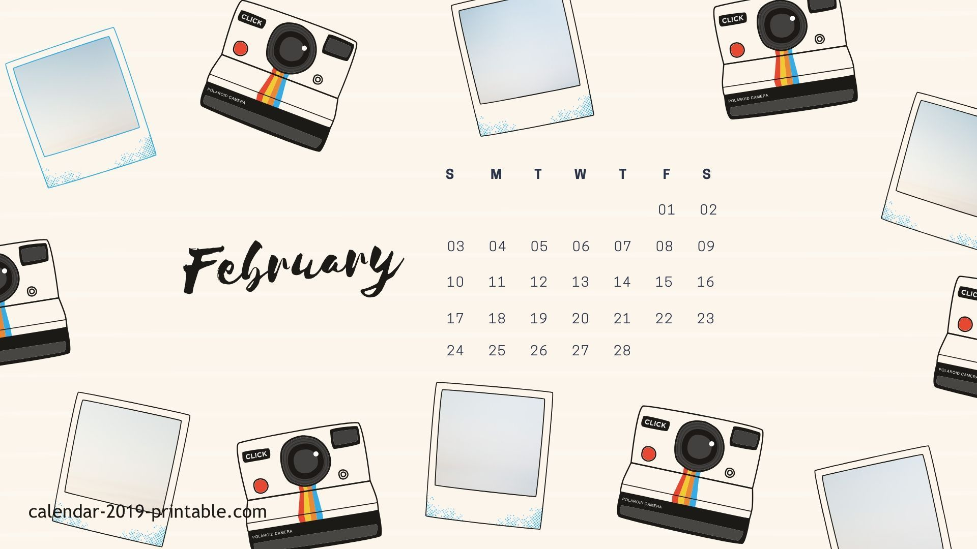 Electronic February 2019 Calendar free february 2019 calendar wallpaper | 2019 Calendars in 2019