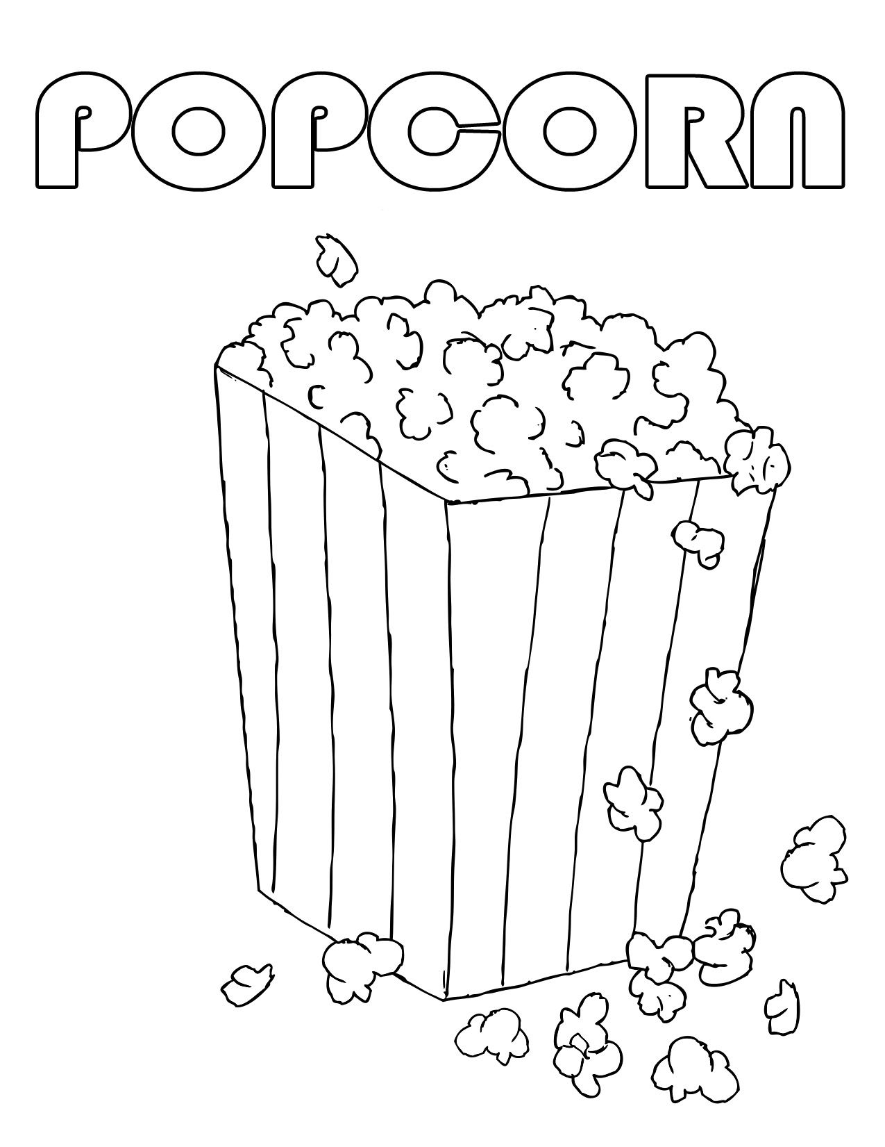 Popcorn Day Coloring Pages Popcorn Day Coloring Pages