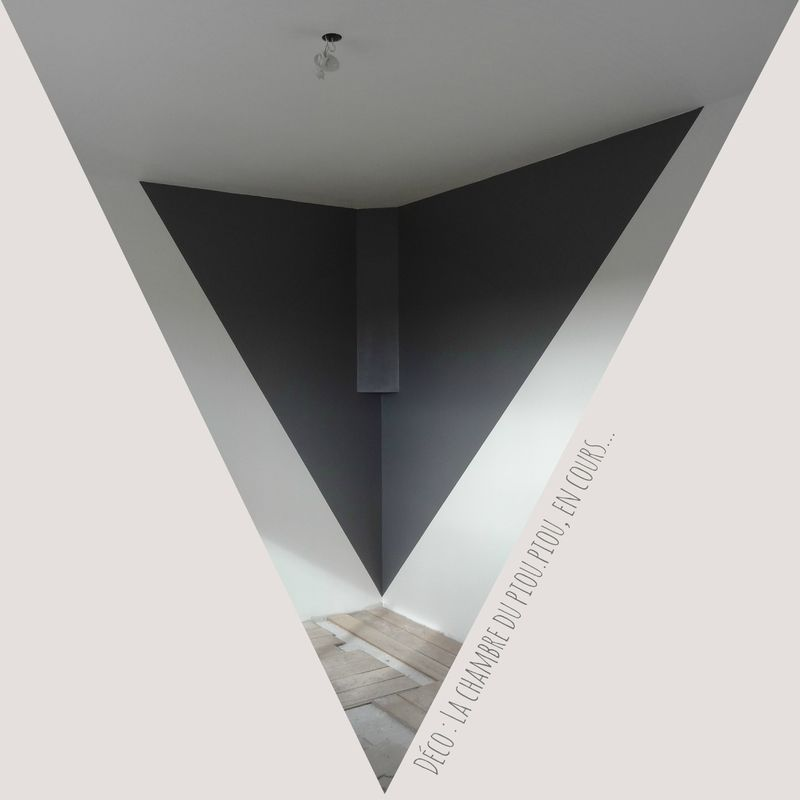 Idée Peinture Salon Un Triangle De Couleur Dans Un Angle