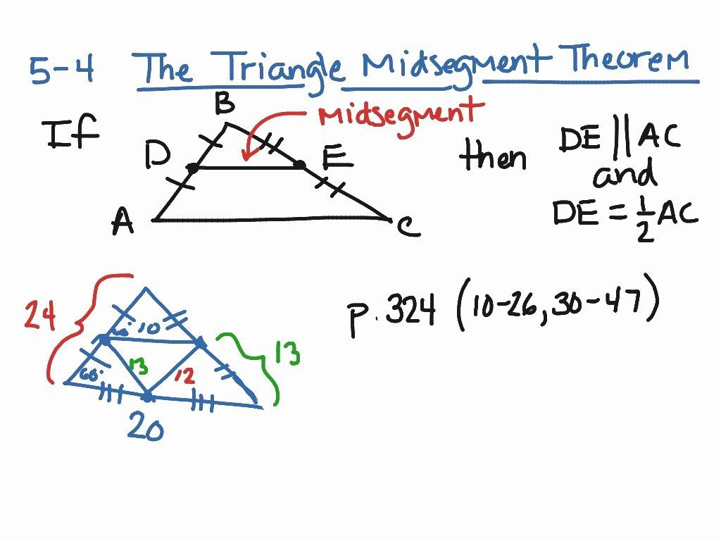 Triangle Midsegment Theorem Worksheet