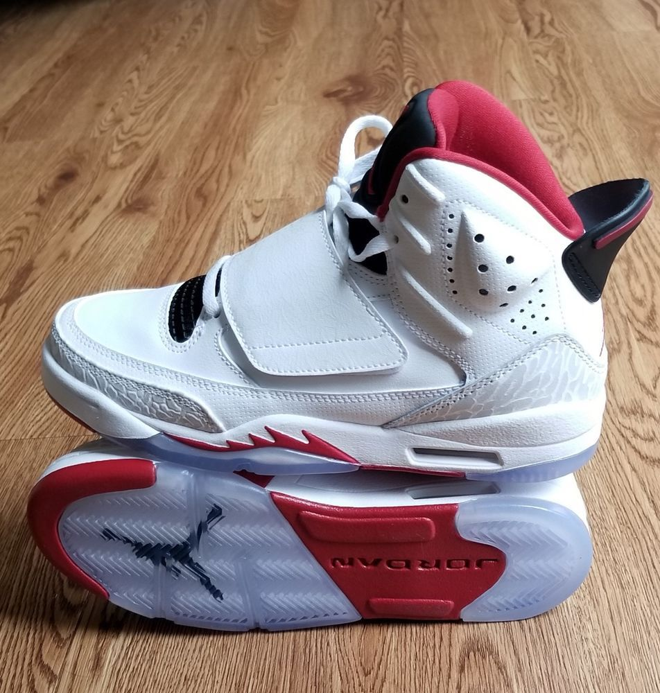 e6d8a9f60b61 NIKE JORDAN SON OF MARS WHITE RED BLACK SNEAKERS SIZE 4Y 512246-112 NEW   Nike