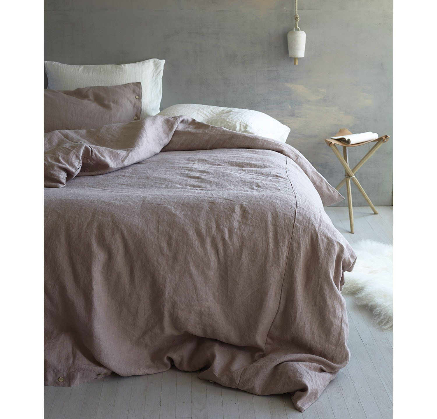 Rough Linen Bedding Bedsheets Orkney Duvet Cover Queen King Twin Bedroom Interior Dusk Or Pink Bed Linens Luxury Bed Linen Design White Linen Bedding