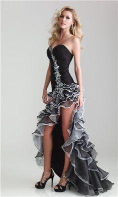 High-low hem line dress