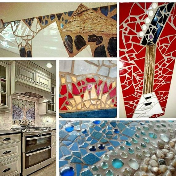 Modern mosaic wall art make a bold statement