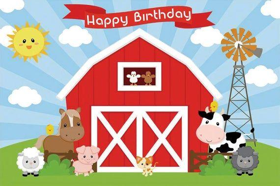 Farm Animals Photography Backdrop Farm Backdrop Farm Etsy Farm Birthday Farm Backdrop Barnyard Birthday