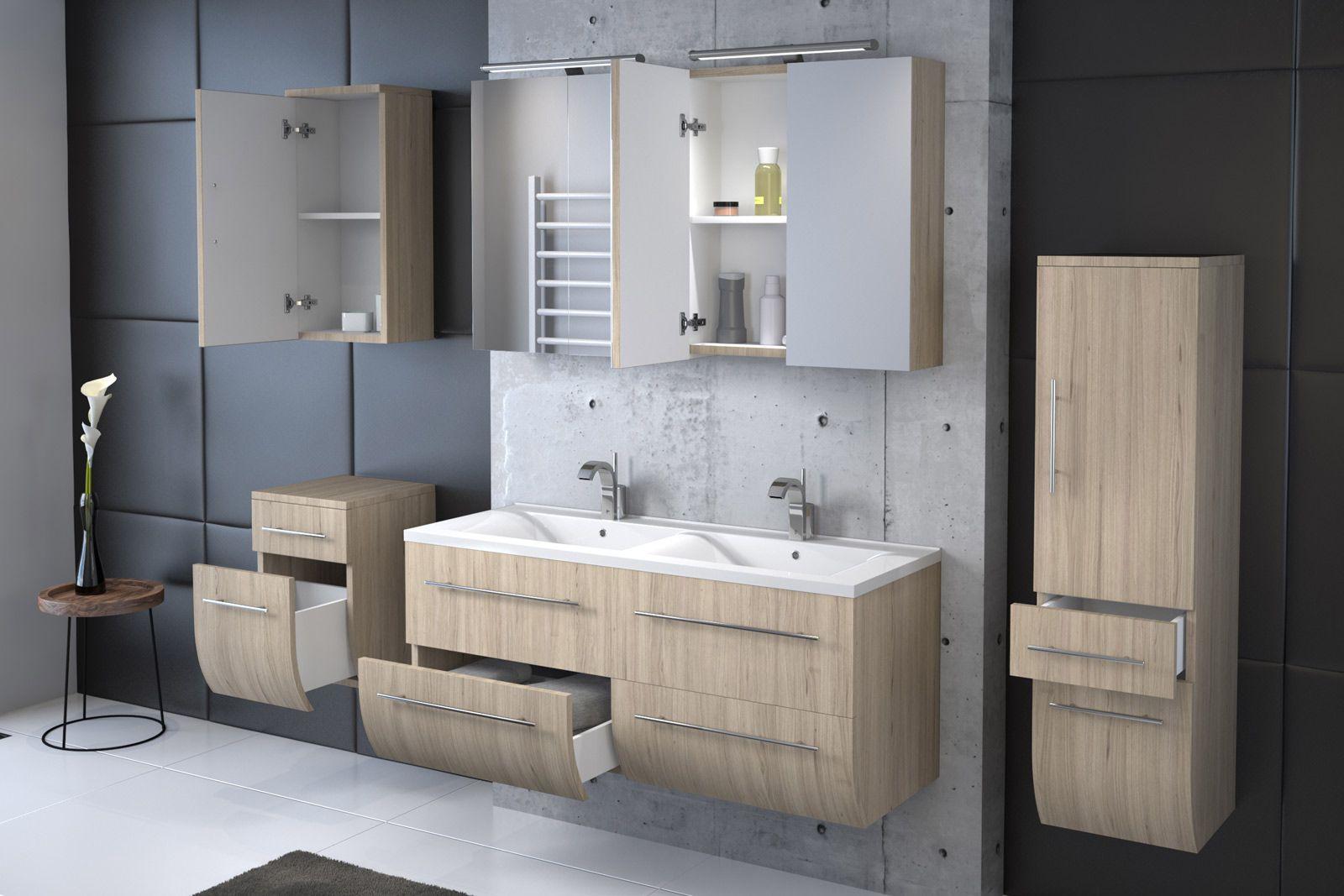 Badezimmermoebel fuer doppelwaschbecken for Badezimmermobel 120 cm