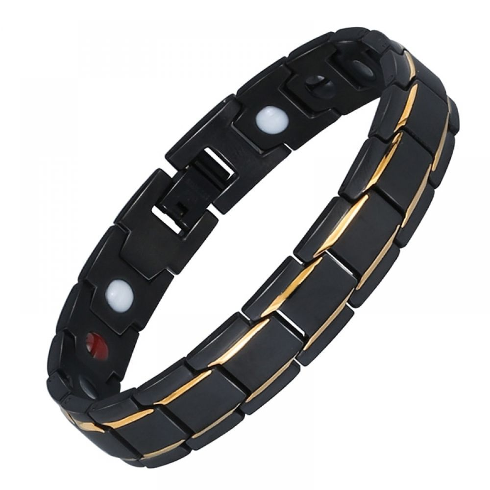 Mens Magnetic Therapy Bracelet Stainless Steel Germanium In 2020 With Images Health Bracelet Bangle Bracelets Stainless Steel Bracelet Men