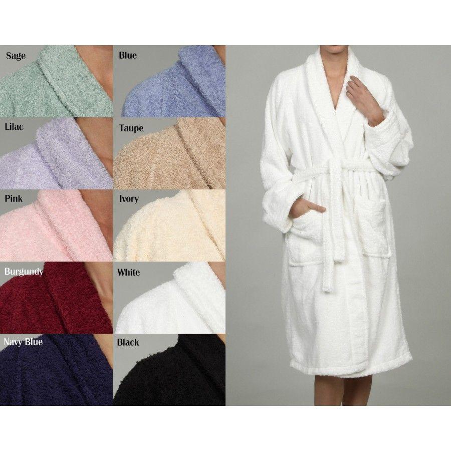 Simple Luxury Superior Egyptian Cotton Unisex Terry Bath Robe - Bathroom robes