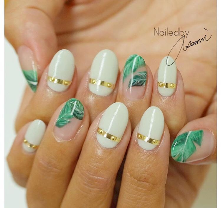 Tropical nails by @asami812 | Nail design | Pinterest | Manicure ...