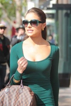 Olivia Culpo - In Tight Green Dress @ Los Angeles