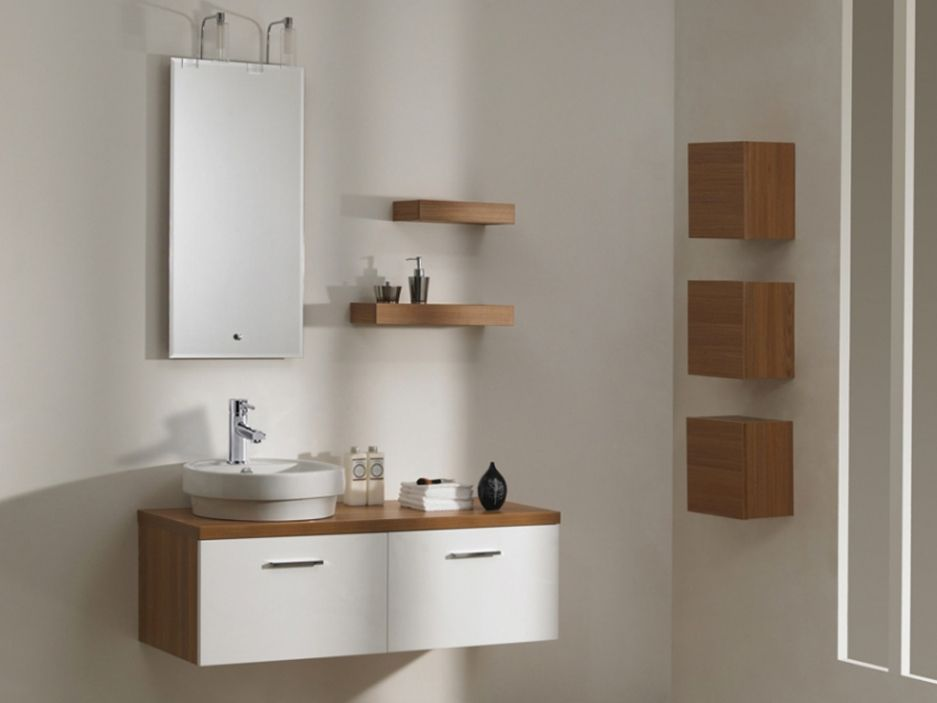 Ensemble CAPRECCIO - meubles de salle de bain suspendus en MDF + - Meuble De Salle De Bain Sans Vasque