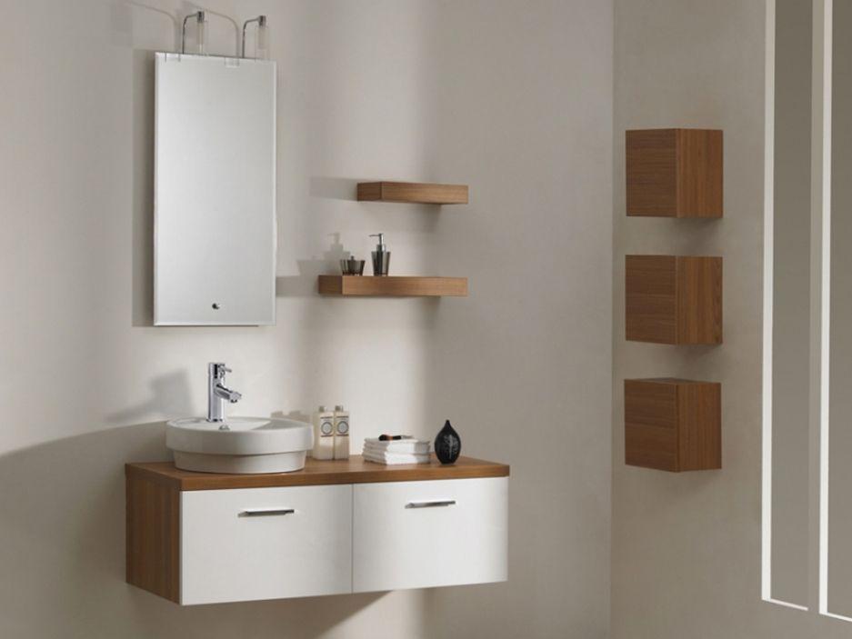 Ensemble CAPRECCIO - meubles de salle de bain suspendus en MDF +