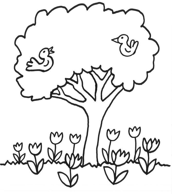 bild-baum-malvorlage-24.jpg (707×800) | Coloring pages ~ kids ...