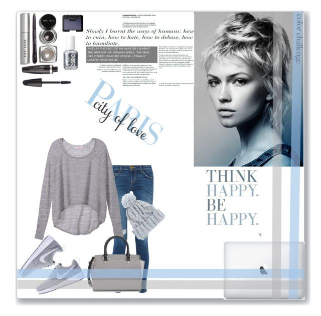 """""""Rock this look : Blue and Silver"""" by ellaahemmings ❤ liked on Polyvore featuring Current/Elliott, Victoria's Secret, MICHAEL Michael Kors, ASOS, NARS Cosmetics, Essie, Bobbi Brown Cosmetics and Max Factor"""