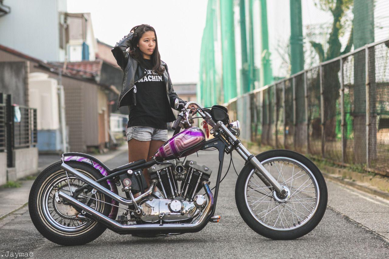 Chop It Like You Stole It Motorcycle Girl Old School Chopper Cafe Racer Girl [ 853 x 1280 Pixel ]