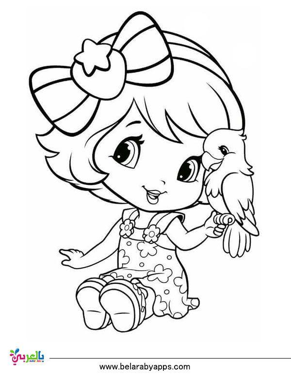 رسومات اطفال للتلوين باربي تلوين انمي للبنات للطباعة بالعربي نتعلم Cute Coloring Pages Cartoon Coloring Pages Coloring Books